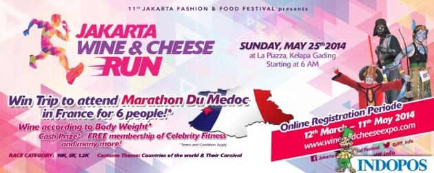 Jakarta Wine And Cheese Run 2014