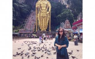 At Batu Caves, Malaysia