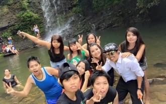 Wisata at Tai Po Waterfall, Hong Kong