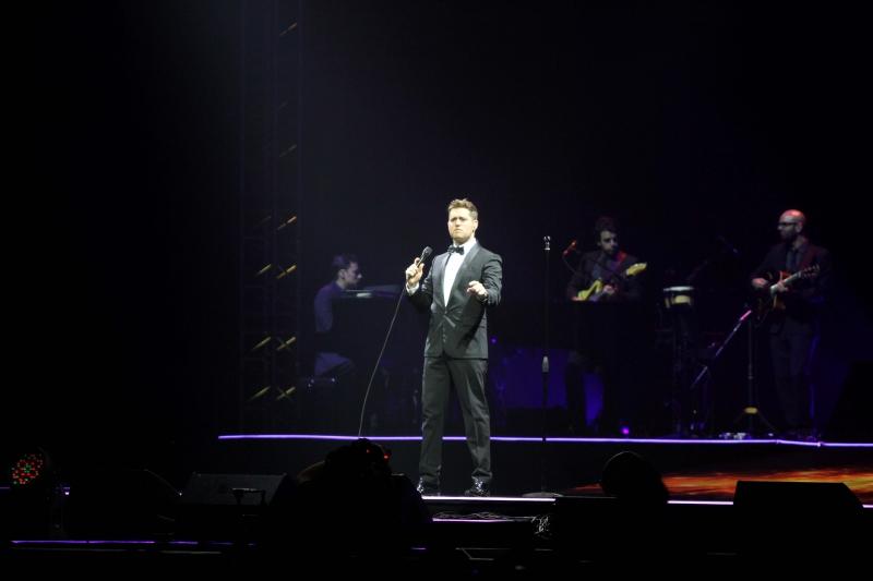 Michael Buble Live in Jakarta 2015 Jadi Tema Gelaran Konsernya Yang Diselenggarakan Di Convention Exhibition (ICE) BSD City