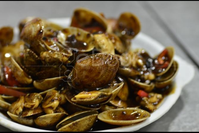 Sajian seafood spesial ala Rumah Makan Hing Kee