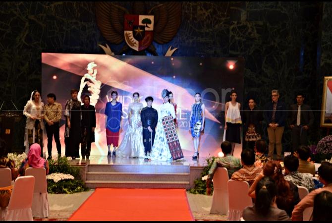 Desainerb yang akan tampil di JFFF 2015 hadir dalam peresmian acara JFFF yang digelar di Balai Kota