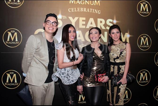 Beberpa artis Ibukota juga hadir dalam perayaan ulang tahun Magnum
