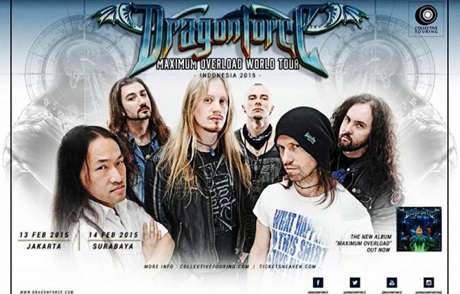 Dragonforce Maximum Overload World Tour 2015