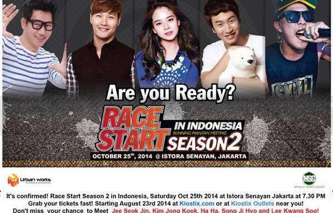 Running Man Race Star Season 2 Kembali Sambangi Jakarta
